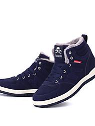 preiswerte -Herren Schuhe Tüll Leinwand Sommer Komfort Sandalen Schnalle für Normal Schwarz Blau
