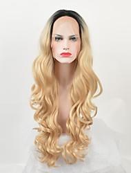 abordables -Perruque Synthétique Bouclé Ondulation naturelle Perruque afro-américaine Cheveux Colorés Blond Noir Femme Sans bonnet Perruque de