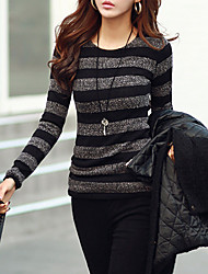 cheap -Women's Basic Cotton T-shirt - Striped