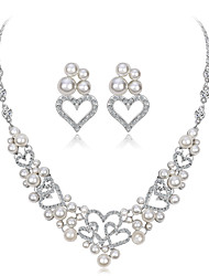cheap -Women's Jewelry Set - Heart Sweet, Fashion Include Bridal Jewelry Sets Silver For Wedding / Party