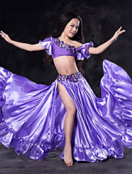 cheap -Belly Dance Outfits Performance Spandex Ruffles Short Sleeve Dropped Skirts Top