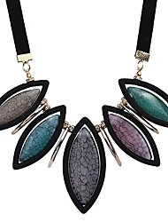 cheap -Women's Statement Necklace - Fashion European Purple Rainbow Light Blue Necklace For Gift Evening Party