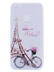 baratos -Capinha Para Huawei P8 Lite (2017) P10 Lite Transparente Estampada Capa Traseira Torre Eiffel Macia TPU para P10 Plus P10 Lite P10 P9 P9