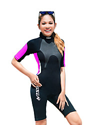 cheap -HISEA® Women's Full Wetsuit SCR Neoprene Diving Suit Short Sleeve Classic Spring / Summer / Winter / Stretchy