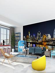 Недорогие -Ар деко 3D Украшение дома Современный Город / Флаг Облицовка стен материал Клей требуется фреска , Обои для дома