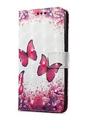 baratos -Capinha Para Huawei Mate 10 pro Mate 10 lite Porta-Cartão Carteira Com Suporte Flip Magnética Estampada Capa Proteção Completa Borboleta