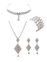 economico -Per donna I monili nuziali Gioielli per fronte Strass Diamanti d'imitazione Lega Di forma geometrica Di tendenza Europeo Matrimonio Feste