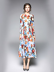 cheap -SHE IN SUN Women's Work Street chic A Line Dress - Floral
