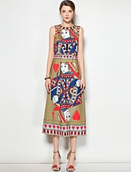 cheap -Women's Cute Street chic Boho Slim A Line Dress - Multi Color, Print