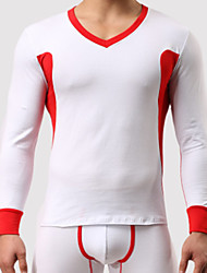 cheap -Men's Micro-elastic Solid Undershirt Medium,Cotton One-piece Suit Light gray Yellow Gray White Green