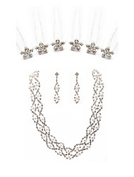 cheap -Women's Hair Sticks Bridal Jewelry Sets Rhinestone Fashion European Wedding Party Imitation Pearl Imitation Diamond Alloy Line Body