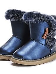 baratos -Para Meninas Sapatos Courino Inverno Conforto / Botas de Neve Botas Penas / Mocassim para Azul Escuro