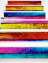 Недорогие -Абстракция ботанический Наклейки Корпус Простые наклейки 3D наклейки Декоративные наклейки на стены Свадебные наклейки, Винил Бумага