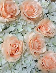 abordables -Fleurs artificielles 10 Une succursale Style moderne Roses Fleur de Table