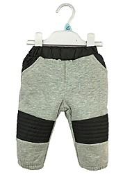 cheap -Boys' Solid Cartoon Pants, Cotton Winter Spring Cute Gray