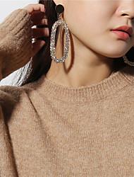cheap -Women's Drop Earrings Rhinestone Mismatch Oversized Copper Circle Oval Jewelry Party Gift Costume Jewelry