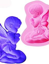 baratos -Silicone bebê anjo abençoe molde de silicone bolo fondant molde ferramentas de decoração de cozimento