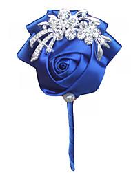 economico -Bouquet sposa Fiore all'occhiello Matrimonio Serata/evento Raso 10 cm ca.