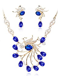 cheap -Women's Crystal Jewelry Set - Gold Plated Classic, Fashion Include Bridal Jewelry Sets Blue For Wedding / Evening Party