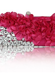 cheap -Bags Silk Evening Bag Appliques / Sashes / Ribbons for Wedding / Event / Party Black / Fuchsia