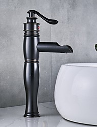 cheap -Antique Centerset Waterfall Ceramic Valve Single Handle One Hole Oil-rubbed Bronze, Bathroom Sink Faucet