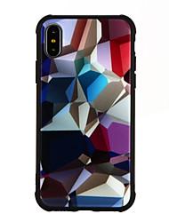 preiswerte -Hülle Für Apple iPhone X iPhone 8 Stoßresistent Muster Rückseite Cartoon Design Hart Gehärtetes Glas für iPhone X iPhone 8 Plus iPhone 8