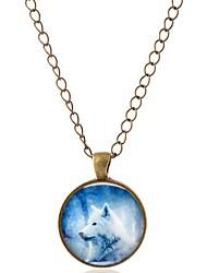 Недорогие -Жен. Ожерелья с подвесками  -  Волк Богемные Бронзовый Ожерелье 1 Назначение Карнавал, Офис и карьера