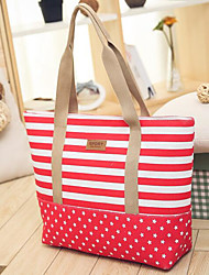 cheap -Women's Bags Canvas Tote Zipper for Casual Spring Fall Blue Black Red Blushing Pink Coffee