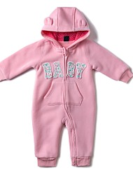 cheap -Baby Girls' Daily Sports Solid One-Pieces, Cotton Winter Fall Active Blushing Pink