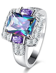 cheap -Women's Synthetic Amethyst / Rhinestone Band Ring - 1pc Circle Classic / Vintage / Elegant Ring For Wedding / Party / Daily
