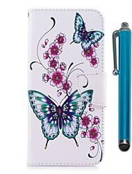 abordables -Coque Pour Huawei Honor 7X Porte Carte Portefeuille Avec Support Clapet Magnétique Coque Intégrale Papillon Dur faux cuir pour Honor 7X