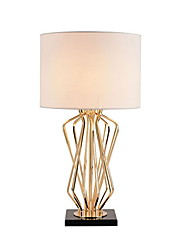 cheap -Simple Decorative Table Lamp For Bedroom Metal White Black