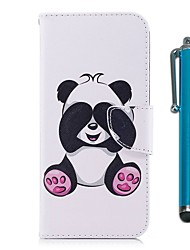 cheap -Case For Huawei P9 lite mini P10 Lite Card Holder Wallet with Stand Flip Magnetic Full Body Cases Panda Hard PU Leather for P10 Lite P10