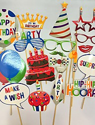 cheap -20 birthday cake photo props Happy Birthday balloon cake candle photography