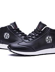 Homens sapatos Couro Ecológico Inverno Conforto Botas Cadarço para Ao ar livre Preto Azul Escuro