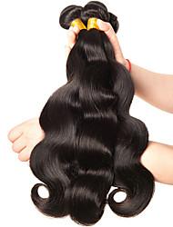 Недорогие -3 Связки Бразильские волосы Естественные кудри Не подвергавшиеся окрашиванию Человека ткет Волосы 8-28 дюймовый Ткет человеческих волос Расширения человеческих волос / 10A