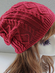Недорогие -На каждый день Широкополая шляпа, Зима Осень Хлопок Красный Темно-серый Бежевый Темно синий Светло-коричневый
