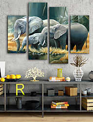 baratos -Tela de impressão Modern, 4 Painéis Tela de pintura Vertical Estampado Decoração de Parede Decoração para casa