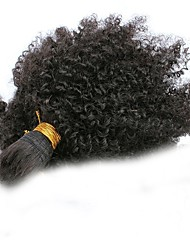 cheap -Malaysian Hair Kinky Curly Unprocessed Human Hair Natural Color Hair Weaves Human Hair Weaves Natural Black