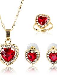 Недорогие -Жен. Комплект ювелирных изделий - Мода Включают Ожерелья с подвесками Красный Назначение Подарок / Повседневные