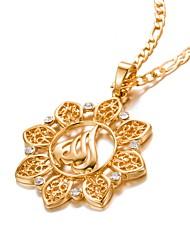 billige -Herre Dame Krystal Halskædevedhæng - Guldbelagt Mode Guld Halskæder Smykker 1 Til Fødselsdag, Gave