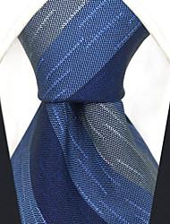 abordables -cravate en rayonne de travail pour homme - rayé jacquard