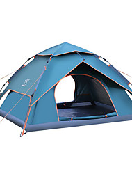 cheap -Sheng yuan 3-4 persons Tent Double Camping Tent One Room Automatic Tent Folding Mountaineering for Camping / Hiking Camping / Hiking /