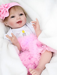 cheap -NPK DOLL Reborn Doll Baby 22 inch Silicone / Vinyl - lifelike, Hand Applied Eyelashes, Tipped and Sealed Nails Kid's Girls' Gift