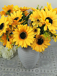 cheap -1 Branch Polyester Sunflowers Tabletop Flower Artificial Flowers
