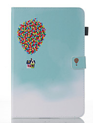 cheap -Case For Samsung Galaxy Tab A 10.1 (2016) Wallet with Stand Flip Pattern Auto Sleep/Wake Up Full Body Cases Balloon Hard PU Leather for