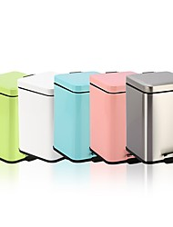 cheap -12L Cube Stainless Steel Padel Slow Type Muted Trash Can Fingerprint Resistant Ash Can Macarons Colorful Garbage Can N49-12L