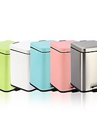 abordables -12l cube en acier inoxydable padel type lent poubelle en sourdine peut cendre résistant aux empreintes digitales peut macarons coloré poubelle n49-12l