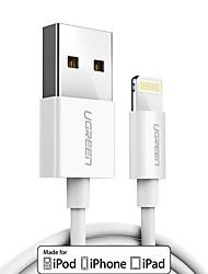 baratos -Iluminação Adaptador de cabo USB Carga rápida Cabo Para iPhone 100 cm TPE