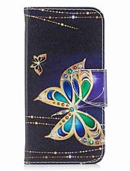 Θήκη Za Apple iPhone X iPhone 8 Plus Utor za kartice Novčanik sa stalkom Zaokret S magnetom Korice Rukav leptir Tvrdo PU koža za iPhone X